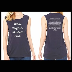 """The White"" Muscle Tank $28.00"