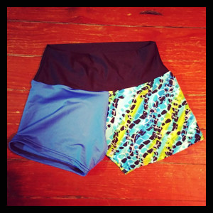 Blue and Multi Shorts (Small) - $40