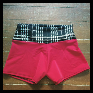 Red and Plaid Shorts (Medium) -$40