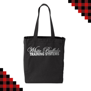 Black/Silver Canvas Bag $10.00